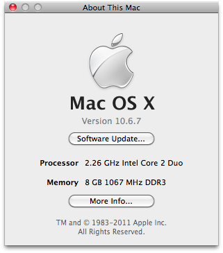 MacBook 6.1 Late 2009 8GB RAM