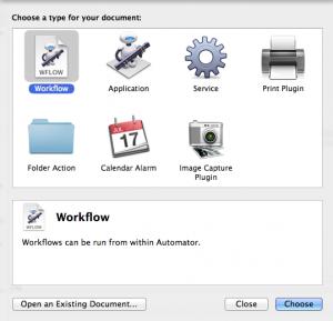 Automator Workflow