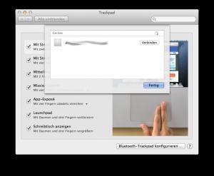 Trackpad verbinden